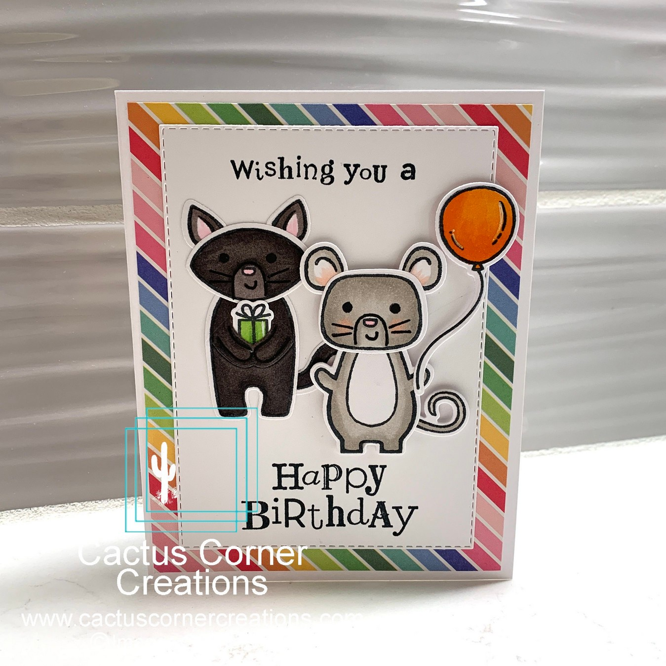 Cat and Mouse Happy Birthday