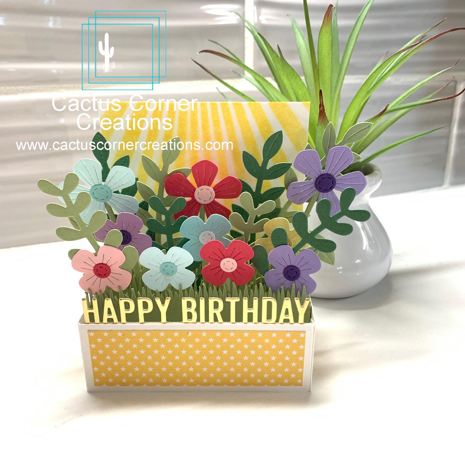 Flowers Box Card