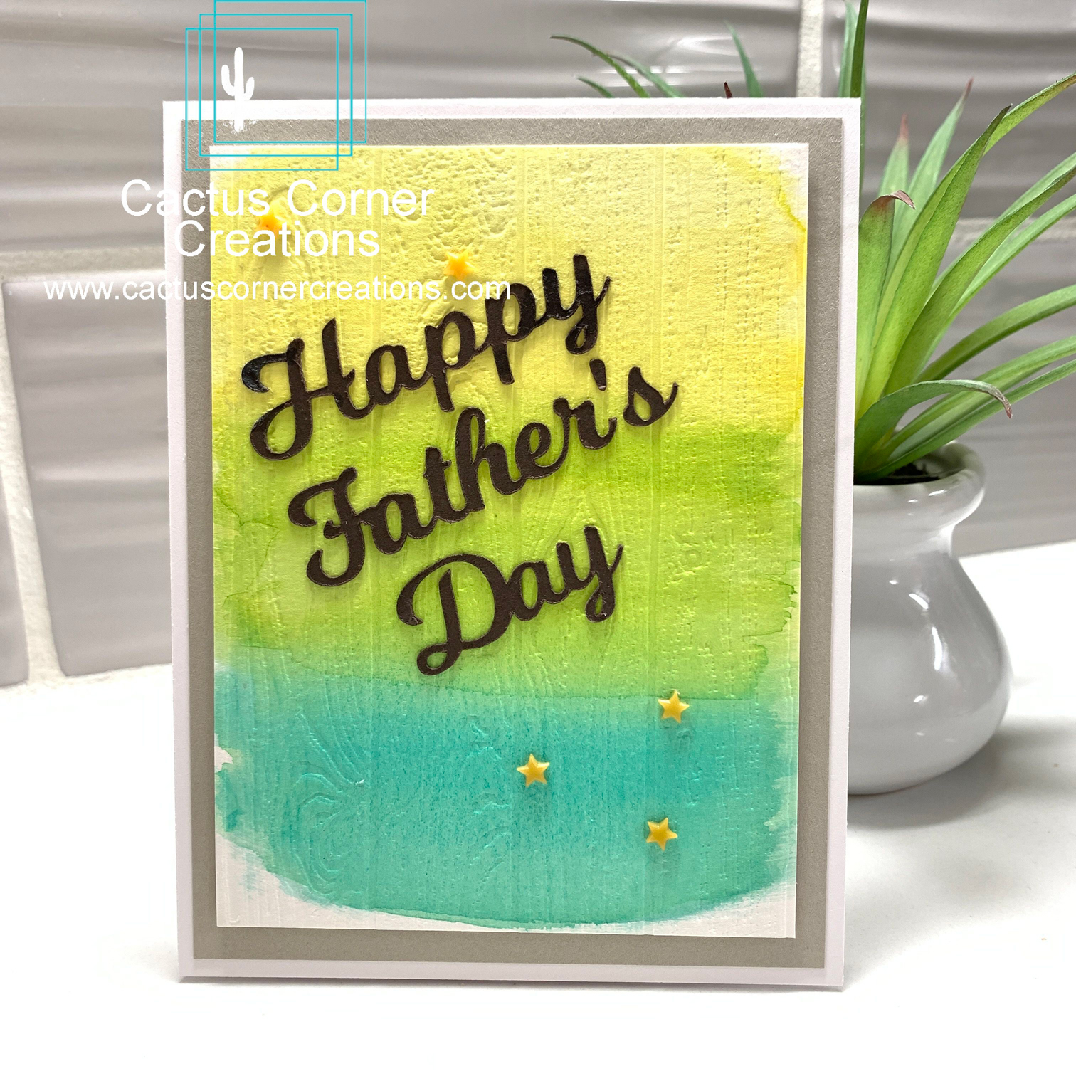 Happy Fathers Day Watercolor